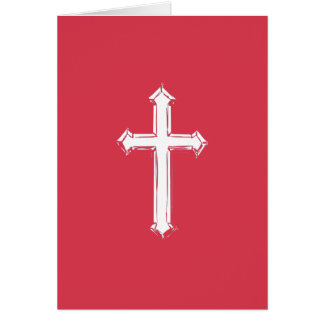 White cross card