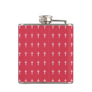 White cross flasks