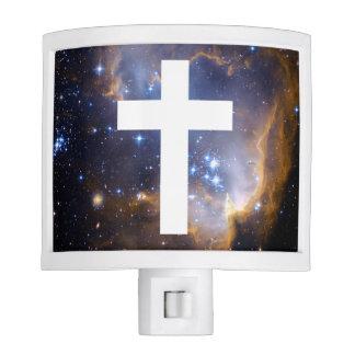 White Cross in the Heavens Night Light