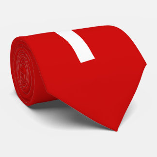 White Cross on Red Background Tie