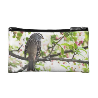 White Crowned Sparrow Cosmetic Bag