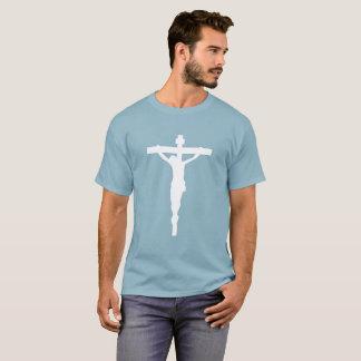 White Crucifix T-Shirt Christian Catholic Jesus