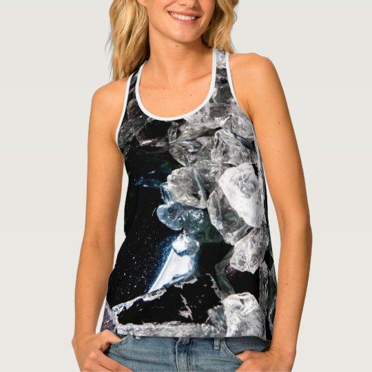 White Crystals in Black outer space Tank Top