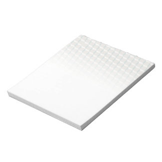 White cubes notepad