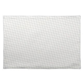 White cubes placemat