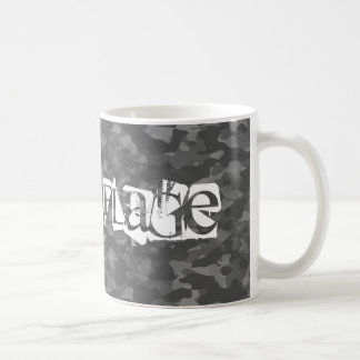 White cup traditional Gray Camouflage
