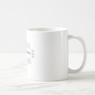 WHITE CUP WITH PHRASE