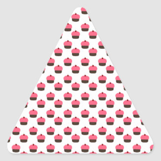 White cupcake pattern triangle stickers