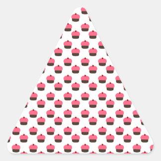 White cupcake pattern triangle sticker