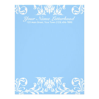 White + Custom Color Custom Letterhead