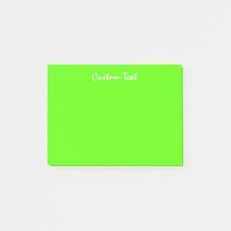 White Custom Text | Vibrant Green Post-it Notes