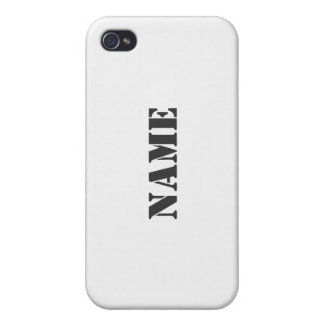 White Customized iPhone 4/4S Cover