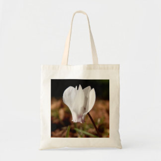 White Cyclamen Budget Tote Bag