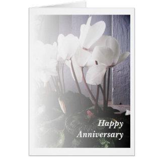 White Cyclamen Card