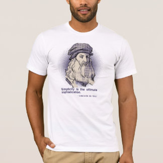 White da Vinci quote tshirt