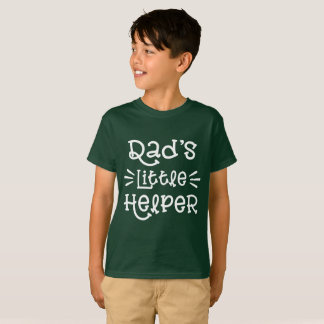 White Dad's Little Helper Cute Hand Lettered T-Shirt
