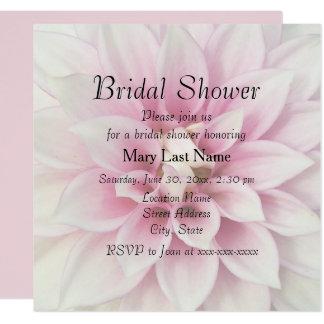 White Dahlia Bridal Shower Invite