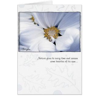 White Dahlia by Anna Wight Card