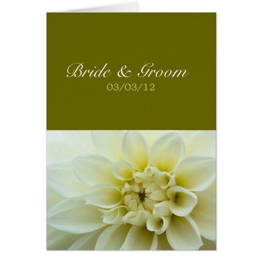 White Dahlia • Wedding Invitation Card