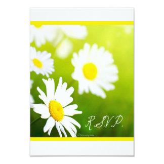 "White Daisies - Celebrate Love Wedding RSVP 3.5"" X 5"" Invitation Card"