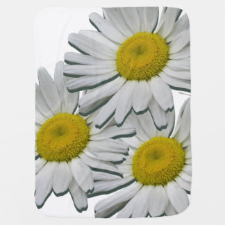 White Daisies Floral Girl Baby Blanket