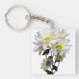 White Daisies Keychain