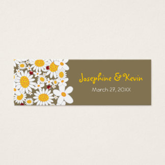 White Daisies Ladybugs Thank You Favors Gift Tag