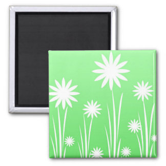 White daisies fridge magnet