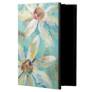 White Daisies on Blue iPad Air Case
