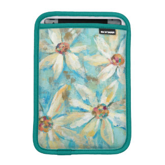 White Daisies on Blue iPad Mini Sleeve
