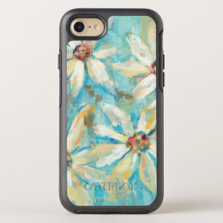 White Daisies on Blue OtterBox Symmetry iPhone 8/7 Case