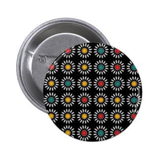 White daisies pattern 2 inch round button