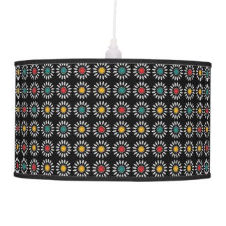 White daisies pattern ceiling lamps