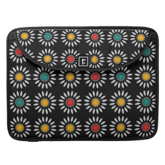 White daisies pattern sleeves for MacBook pro