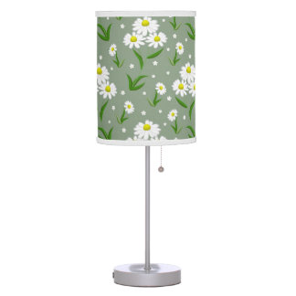 White Daisies Table Lamp