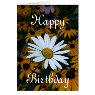 White Daisy and Blackeyed Susans Card