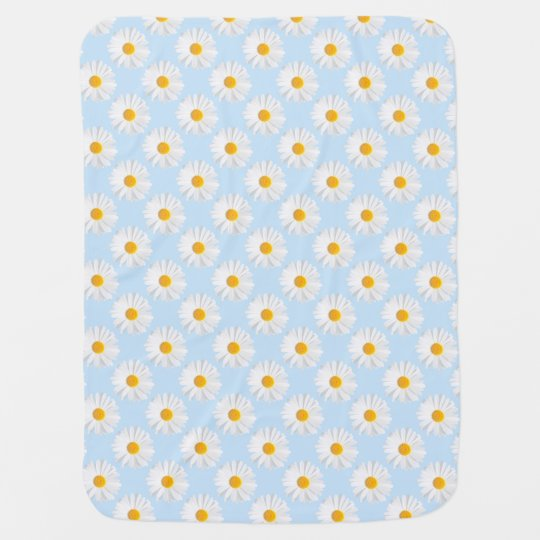 white daisy baby blankets
