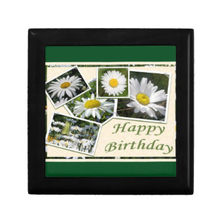 White Daisy Birthday Collage Gift Box