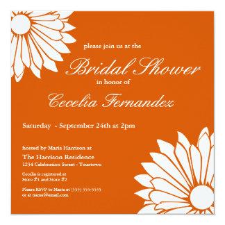 White Daisy Bridal Shower Invitations