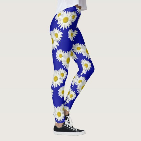 White Daisy Crush Leggings