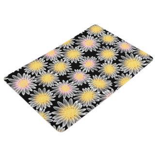 White daisy floor mat