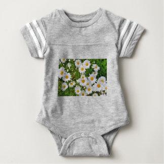 White Daisy Flower Baby Bodysuit
