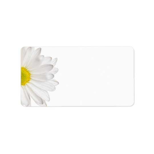 White Daisy Flower Background Customized Daisies Label