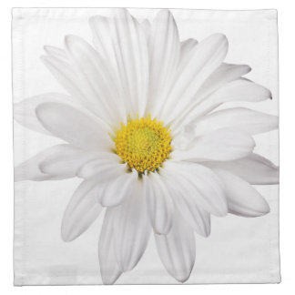 White Daisy Flower Background Customized Daisies Napkin