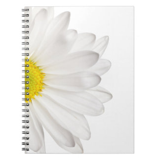 White Daisy Flower Background Customized Daisies Notebook