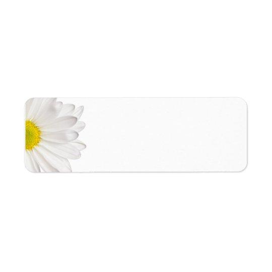 White Daisy Flower Background Customized Daisies Return Address Label