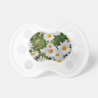 White Daisy Flower Pacifier