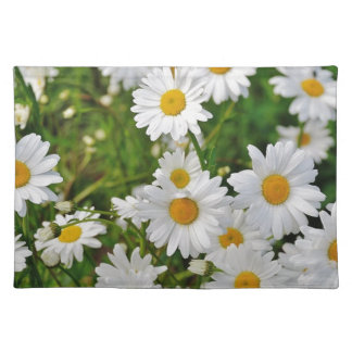 White Daisy Flower Placemat