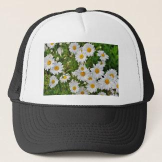 White Daisy Flower Trucker Hat