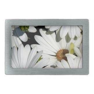 White Daisy Flowers Belt Buckle